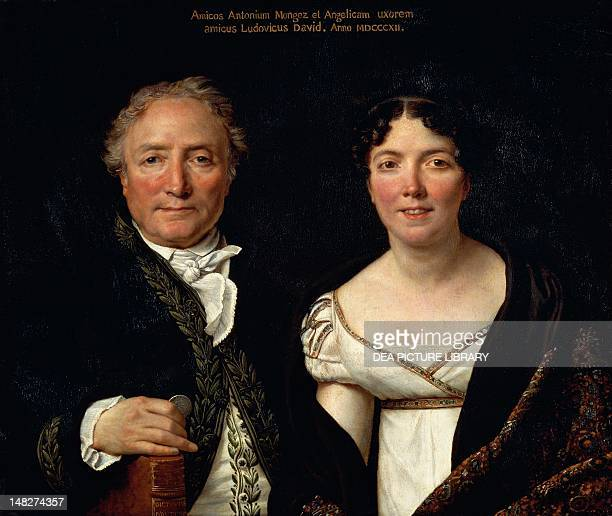 Portrait of Antonio Mongez and his wife by JacquesLouis David Paris Musée Du Louvre