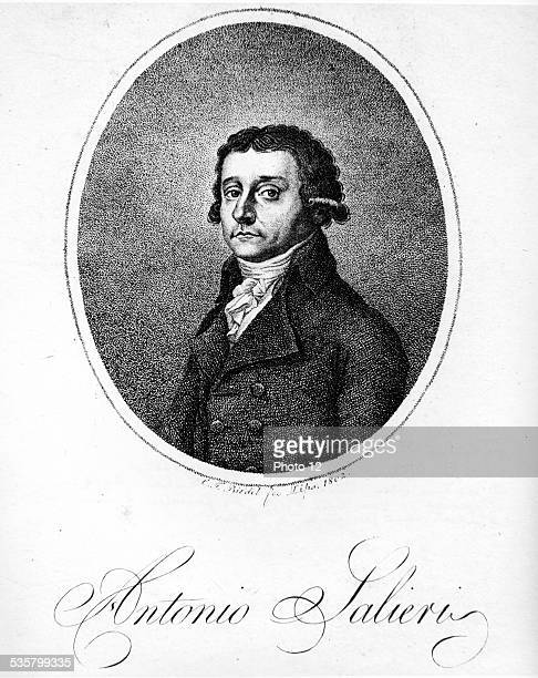Portrait of Antonio Salieri Italian composer Director of the Vienna theatre