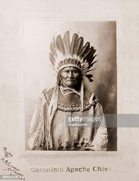 Portrait of Apache chief Geronimo 1907 Albumen print
