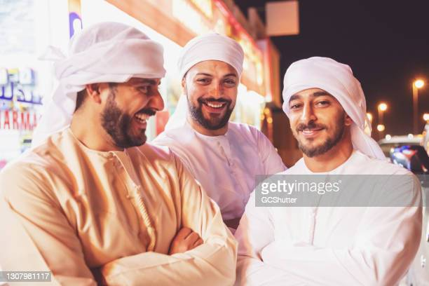 portrait of arab friends - persian gulf countries stock pictures, royalty-free photos & images