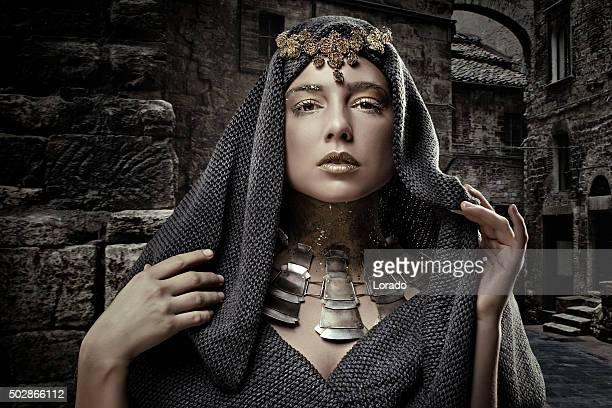 Portrait of arabic woman wearing beautiful jewellery