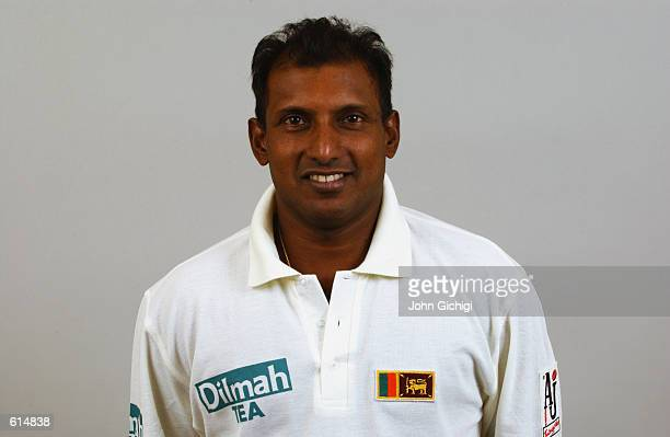 Portrait of Aravinda de Silva of Sri Lanka during the Sri Lankan Cricket Team photoshoot held in Shenley England on April 23 2002 DIGITAL IMAGE