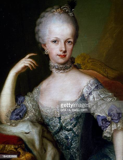 Portrait of Archduchess Maria Josepha Gabriela of Austria , daughter of Maria Theresa of Austria, Holy Roman Empress and Francis I, Emperor of the...