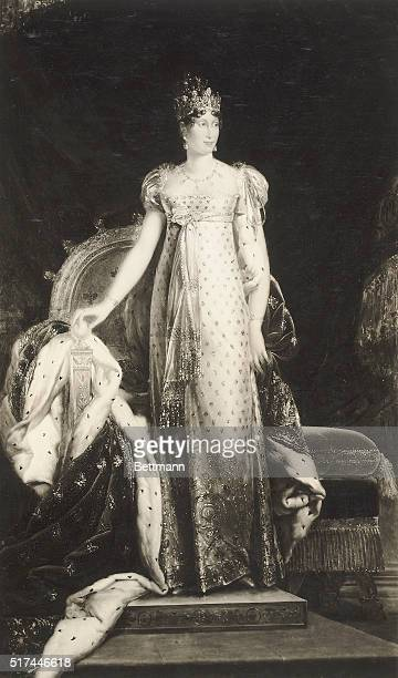 Portrait of Archduchess Marie-Louise, daughter of the Emperor of Austria, who, at the age of 18, became the wife of Napoleon and Empress of France,...