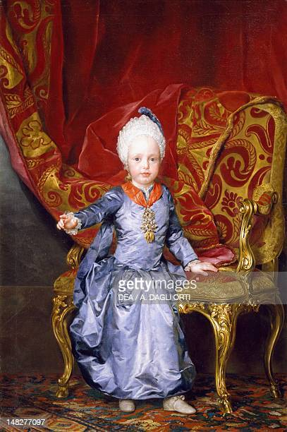 Portrait of Archduke Francis of Austria later Emperor Francis I by Anton Raphael Mengs oil on canvas 144x97 cm Madrid Museo Del Prado