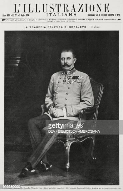Portrait of Archduke Franz Ferdinand of Habsburg from L'Illustrazione Italiana Year XLI No 27 July 5 1914
