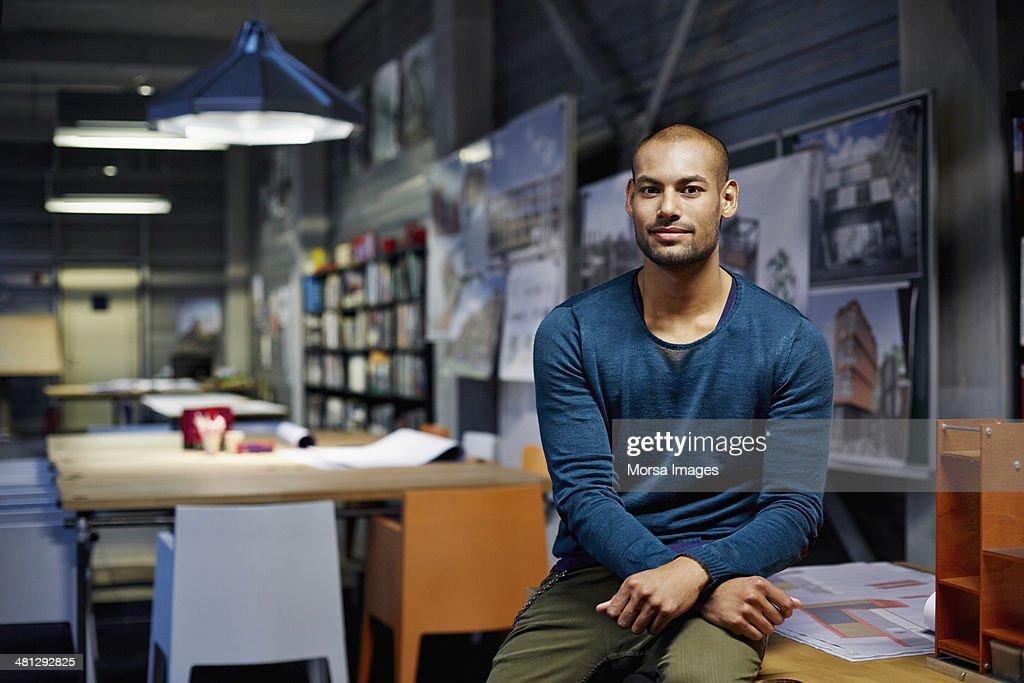Portrait of architect : Stock Photo
