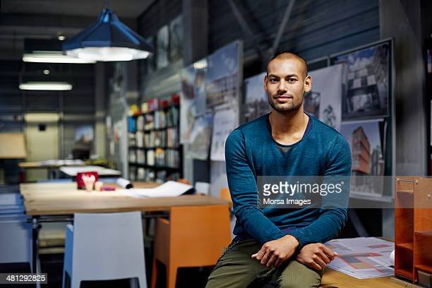 portrait of architect - bold man stock photos and pictures