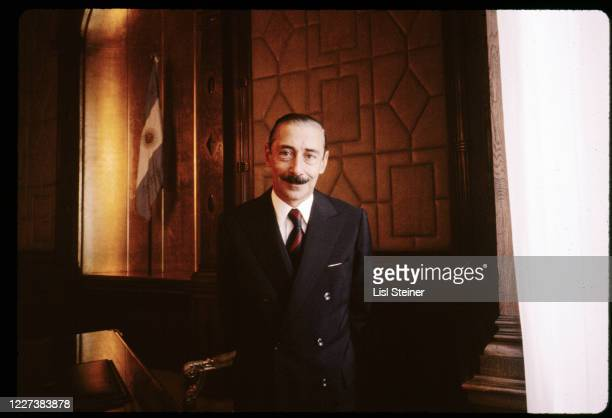 Portrait of Argentinean President Jorge Rafael Videla as he poses in his office, Buenos Aires, Argentina, 1979.