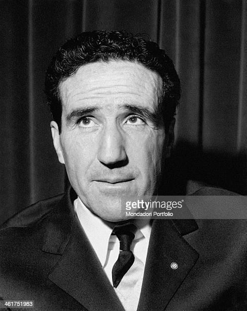 Portrait of Argentinianborn French coach Helenio Herrera 1964