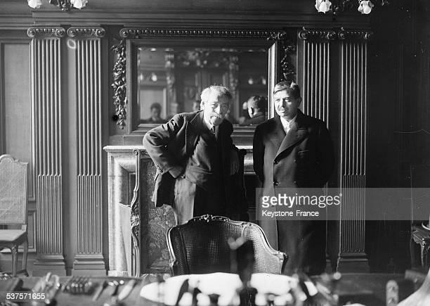 Portrait of Aristide Briand and Pierre Laval circa 1930 France