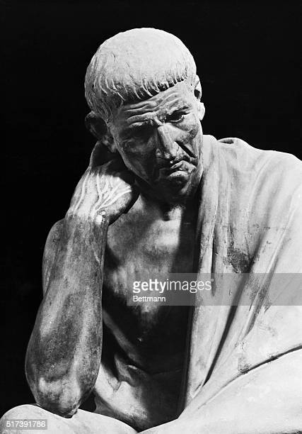 Portrait of Aristotle Detail from Hellenistic Statue Museo Nationale Naples Undated