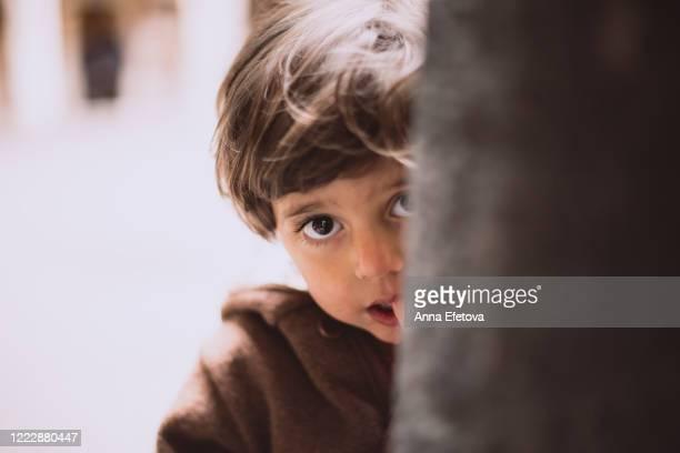 portrait of armenian boy - armut stock-fotos und bilder