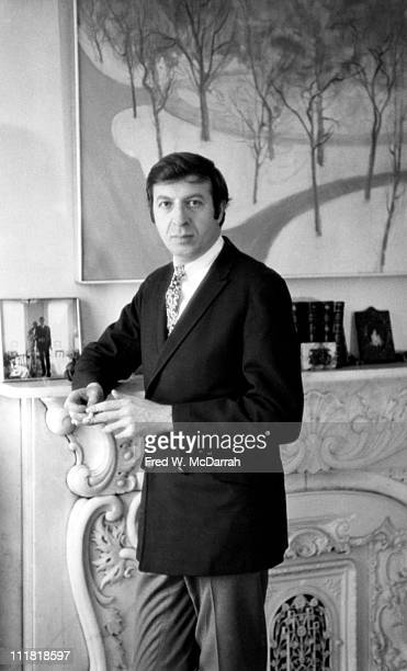 Portrait of art critic John Gruen in his home New York New York January 6 1966