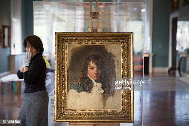 A portrait of Arthur Atherley by Thomas Lawrence is displayed at the Holburne Museum on January 14 2016 in Bath England The acquisition of the...