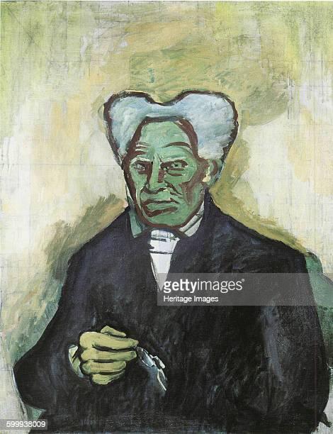 Portrait of Arthur Schopenhauer 1908 Found in the collection of Moravská galerie Brno Artist Kubista Bohumil
