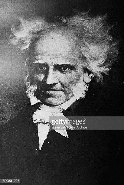 Portrait of Arthur Schopenhauer German philosopher best known for his book The World as Will and Representation Dated 1859