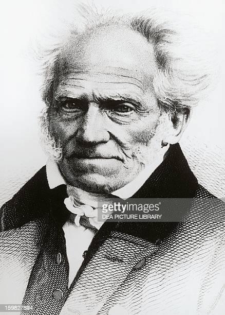Portrait of Arthur Schopenhauer German philosopher Engraving by Franz Seraph von Lenbach