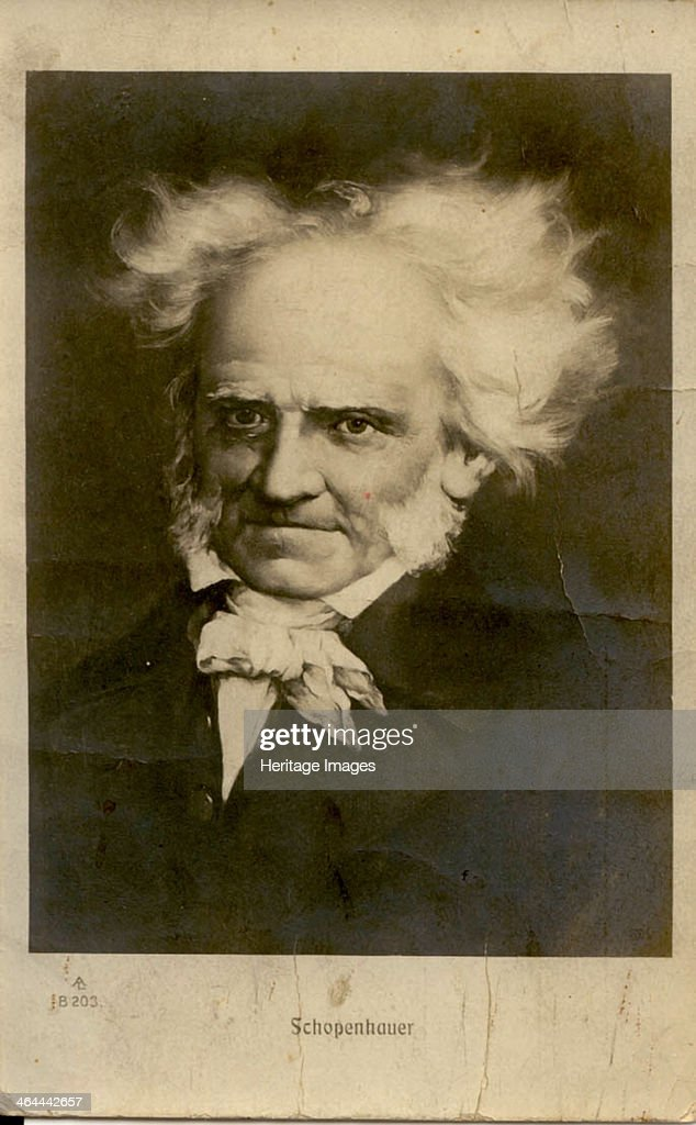 Portrait of Arthur Schopenhauer (1788-1860). Artist: Anonymous : News Photo