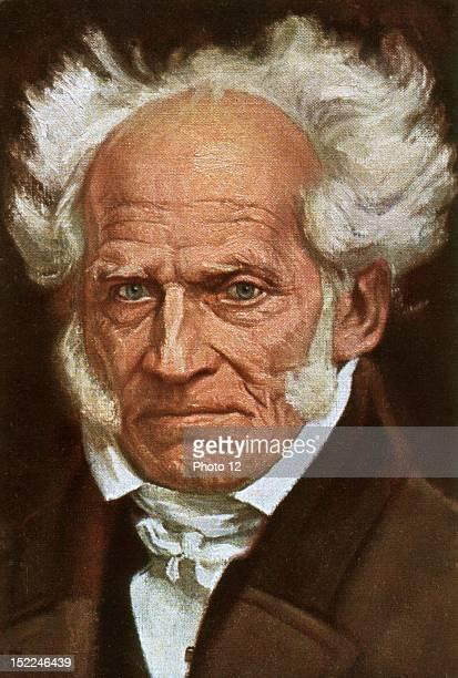 Portrait of Arthur Schopenhauer postcard 19th century Germany Private collection