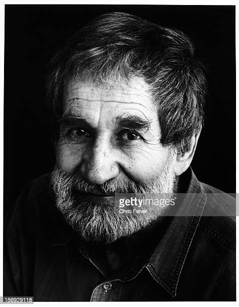 Portrait of artist and inventor of 'Happenings' Allan Kaprow Encinitas California 1999