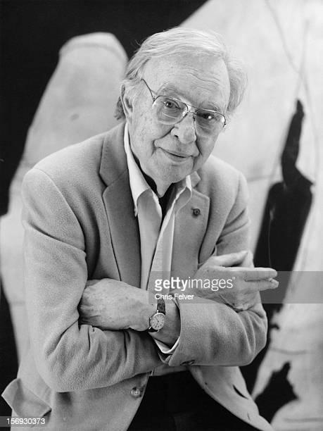 Portrait of artist Robert Motherwell Greenwich Connecticut 1989