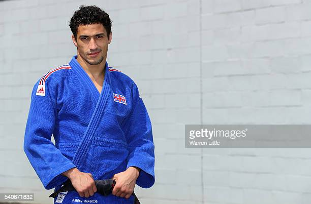 Portrait of Ashley McKenzie of Great Britain during an announcement of judo athletes named in Team GB for the Rio 2016 Olympic Games at British Judo...