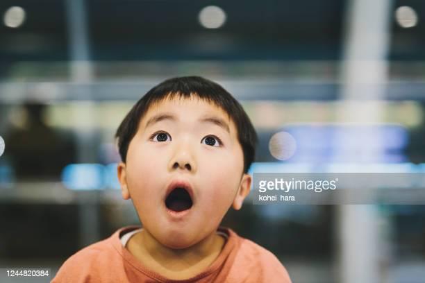 アジアの少年の肖像 - サプライズ ストックフォトと画像