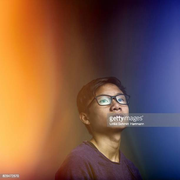 portrait of asian boy - bright stock pictures, royalty-free photos & images