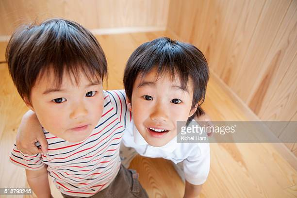 A portrait of asian brothers