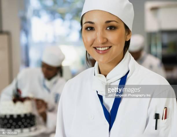 Portrait of Asian female chef