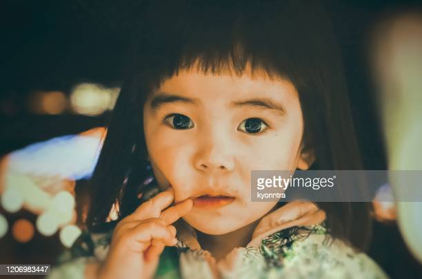 portrait of asian little girl - kyonntra stock pictures, royalty-free photos & images