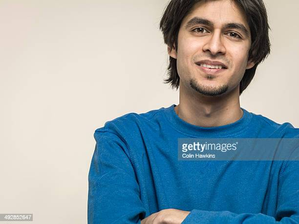 portrait of asian man - goatee stock pictures, royalty-free photos & images