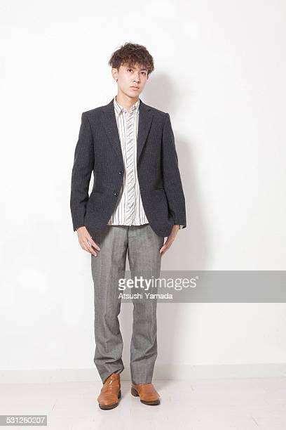 Portrait of asian man,white background
