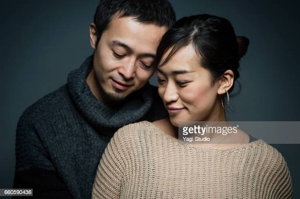 Portrait of asian pregnant woman and husband
