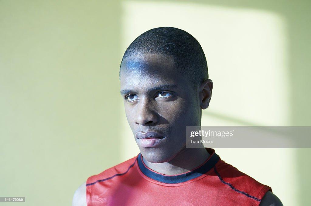 portrait of athlete : Stock-Foto