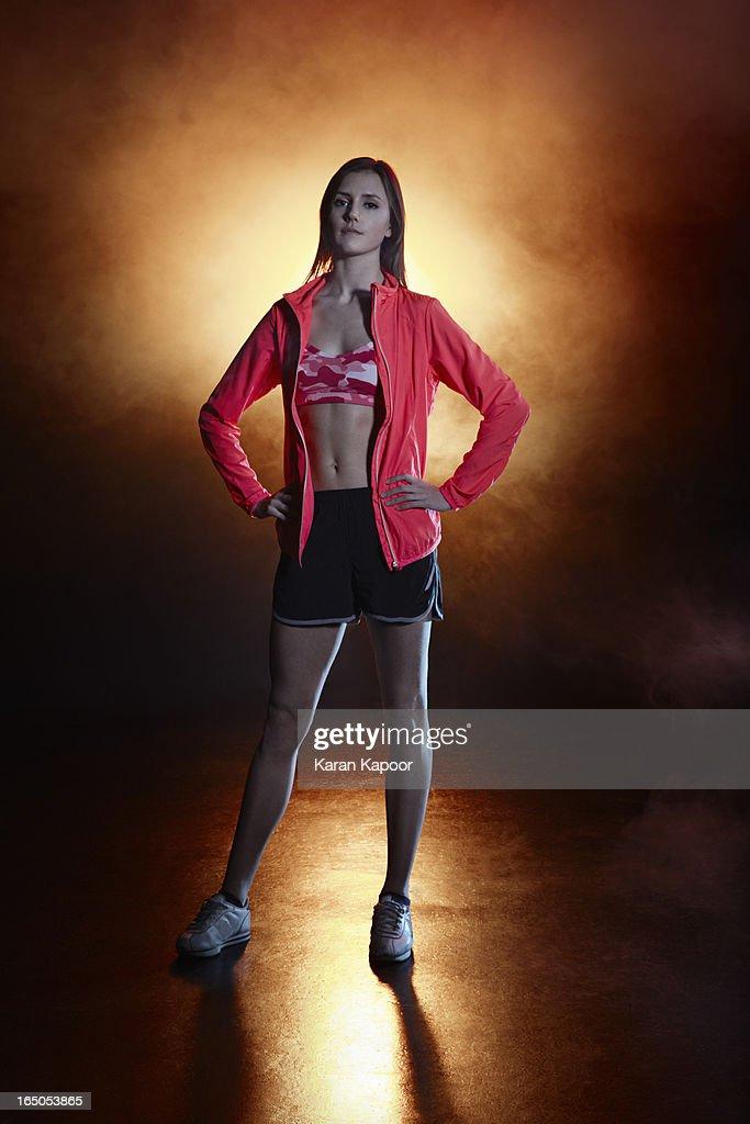 Portrait of Athlete : Stock Photo