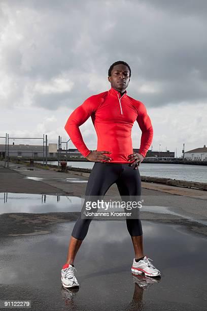 portrait of athlete