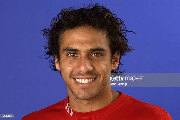 Portrait of ATP Tour tennis player Mariano Zabaleta of Argentina on May 26 2002