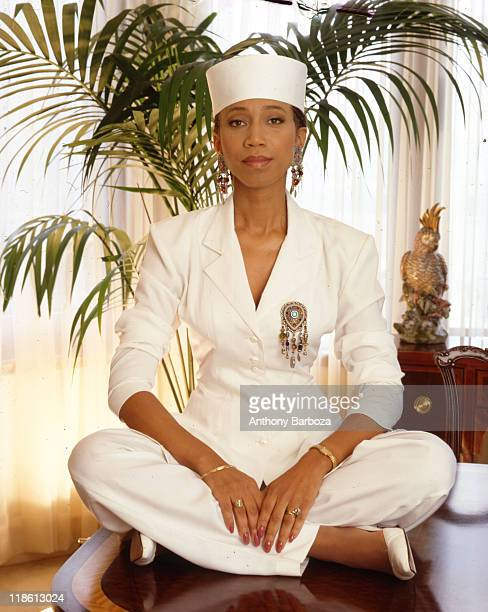 Portrait of Attallah Shabazz daughter of civil rights figures Dr Betty Shabazz and Malcolm X late twentieth century