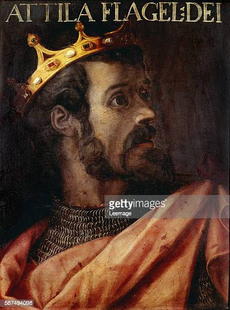 Portrait of Attila the Hun anonymous artist Firenze Galleria degli Uffizi