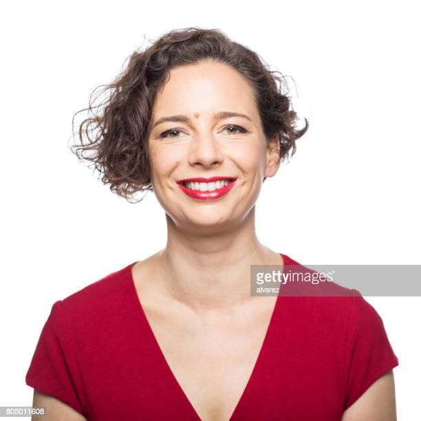 Portrait of attractive mature woman smiling