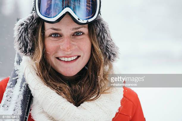 Portrait of attractive skier