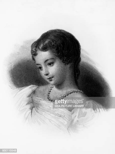 Portrait of Augusta Ada Byron Countess of Lovelace English mathematician and writer she is regarded as the first computer programmer engraving