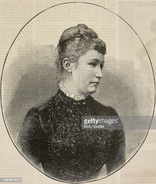 Portrait of Augusta Victoria of SchleswigHolstein German Empress and Queen of Prussia engraving by Richard Taylor from The Illustrated London News No...