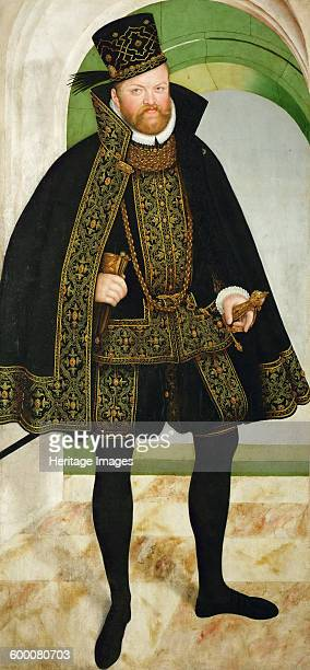 Portrait of Augustus, Elector of Saxony , c. 1570. Found in the collection of Ambras Castle, Innsbruck. Artist : Cranach, Lucas, the Younger .