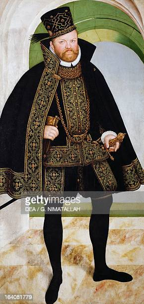 Portrait of Augustus I of Saxony Elector Painting by Lucas Cranach the Younger Vienna Kunsthistorisches Museum