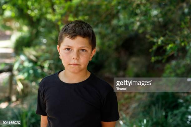 Portrait of Australian Aboriginal Boy