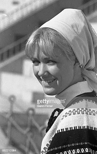Portrait of Australian actress Annette Andre as she visits the Plaza de Toros de Las Ventas bullring Madrid Spain 1965