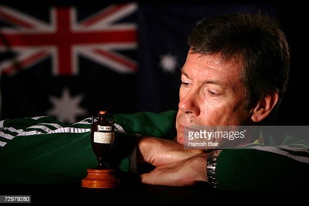A portrait of Australian coach John Buchanan taken during the Australian cricket team portrait session on August 30 2006 at the Hyatt Regency at...